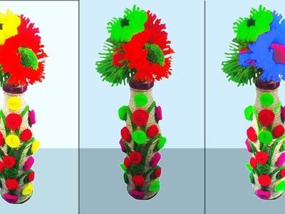 DIY: Waste glass Bottle Craft ideas   Reuse idea with glass bottles   flower vase