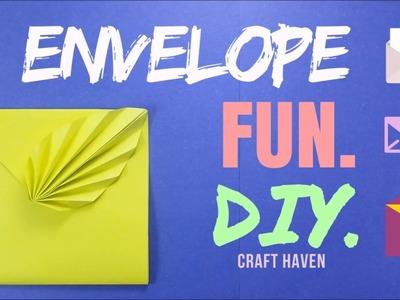 Easy Origami Envelope Tutorial - ♥︎ DIY ♥︎ Leaf Envelope - Fun Paper Envelope for Beginners