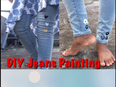 Fabric Paint Tutorial On Jeans DIY Designer Old Jeans Awesome Painting Turn Your Old Jeans By Paint