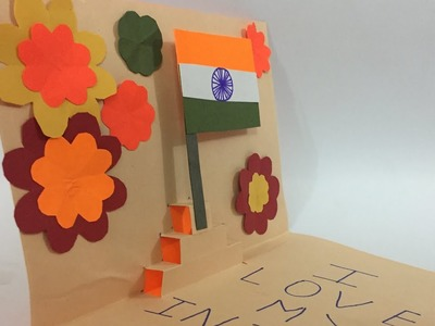Happy Independence Day Craft | 15 August Card | I love my India | Craft for Independence |