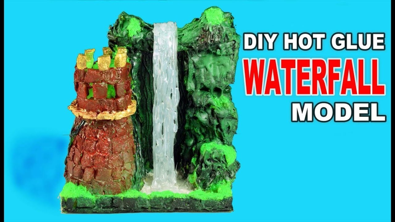 Hot Glue Waterfall Model Diy Craft Ideas Bast Out Of Paper