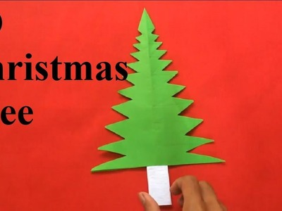 How to make a paper christmas tree craft