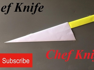 How to make a paper knife - chef knife