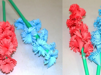 How to Make Beautiful Paper Stick Flower | DIY Handmade Craft Ideas for Room Decoration