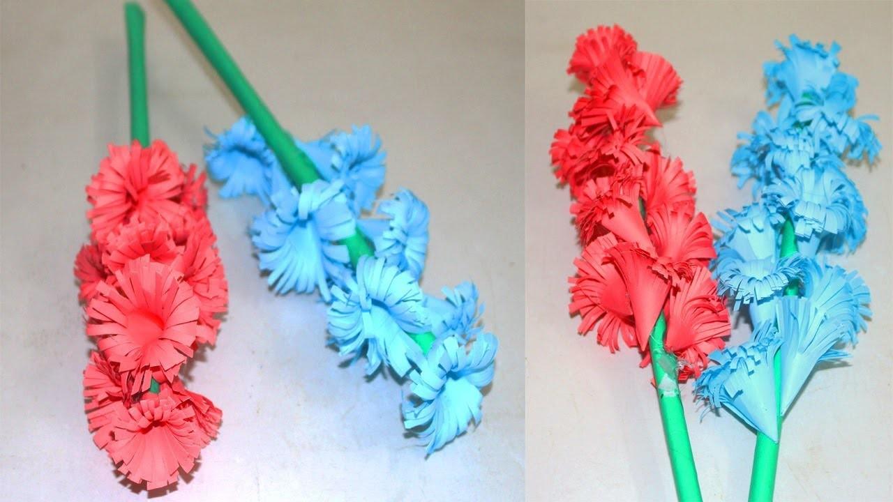 How To Make Beautiful Paper Stick Flower Diy Handmade Craft Ideas