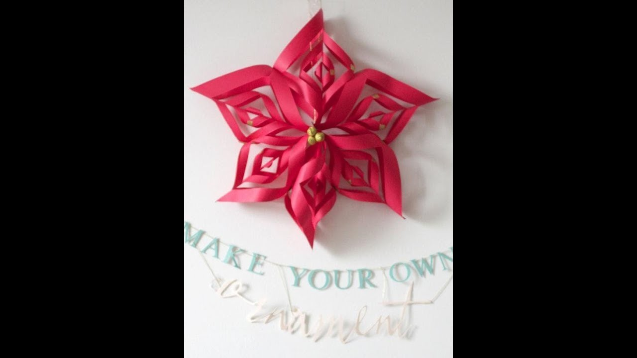 How To Make Snowflake With Only Paper Easy Rose Craft
