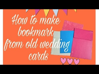 How to recycle old wedding cards.