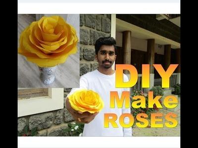 Making Beautiful ROSES with chart | DIY Craft Malayalam.