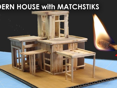 Matchstick Art and Craft Ideas | make easy match stick house.  NO FIRE