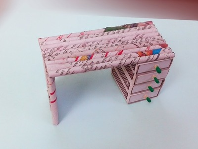Newspaper craft | How to make Super Easy Newspaper Table with drawers | Best Out Of Waste