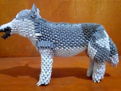Paper craft 3d origami husky quick tutorial