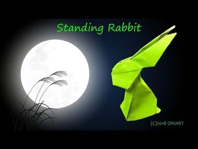 【折り紙 作り方】立ちウサギ ~立体.動物~|3D Paper Rabbit ~Animal~.DIY-Tutorial