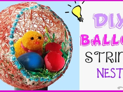Tutorial - How to make Nest easily |  DIY Room Decor | Beautiful Balloon Craft Nest | Craft Play