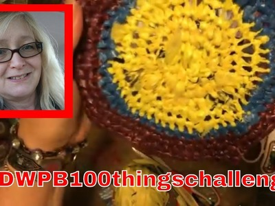 #59 Making Plarn from PLASTIC BAGS TO KNIT CROCHET #DWPB100thingschallenge ~ DancesWithPitBulls ~