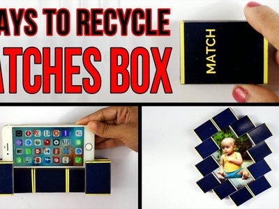 6 Ways to Recycle Matches Box | DIY craft ideas