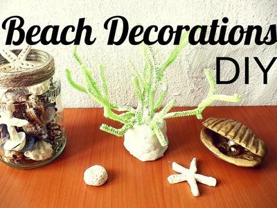 Beach Decorations DIY Coastal Room Decor Ideas Make Sea Creatures Starfish and Coral with Salt Dough