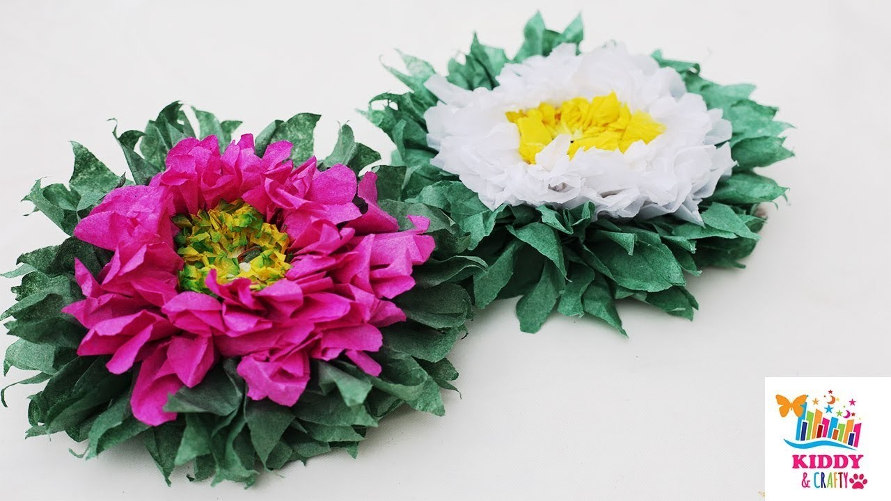 Beautiful Tissue Paper Flower Making Tutorial Diy How To Make