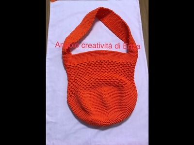 Borsa mare.shopping all'uncinetto.Crochet sea bag.Bolsa de mar de ganchillo