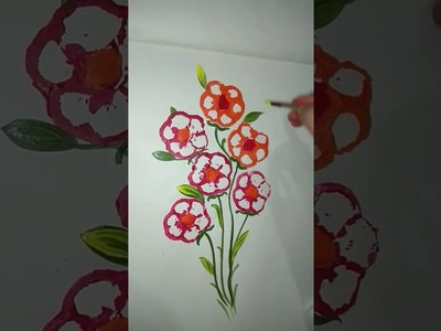 Capsicum print|How to make beautiful flowers with capsicum|vegetable drawing|tutorial