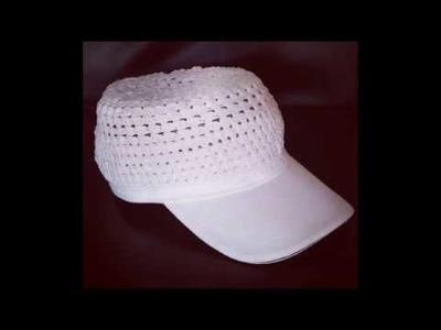 Crochet a baseball cap, easy sewing , summer wear, hats