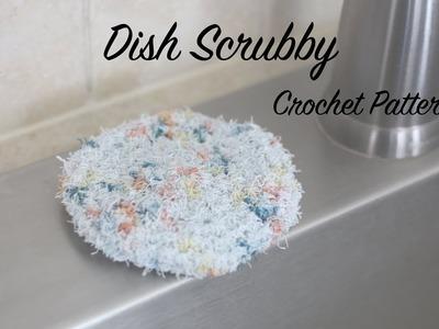 Crochet Dish Scrubby Pattern, Tutorial, How to Crochet a Dish Cloth