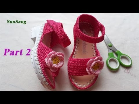 Crochet Sandals roes for babygirl - How to hook the straps