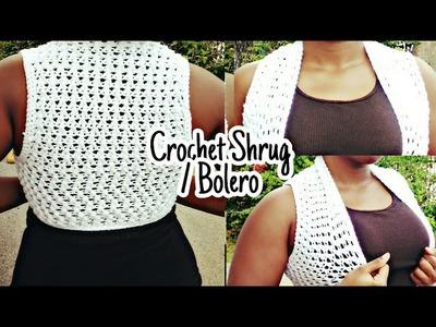 Crochet Shrug. Bolero ((EASY & VERY DETAILED CROCHET TUTORIAL)) **BEGINNER FRIENDLY**