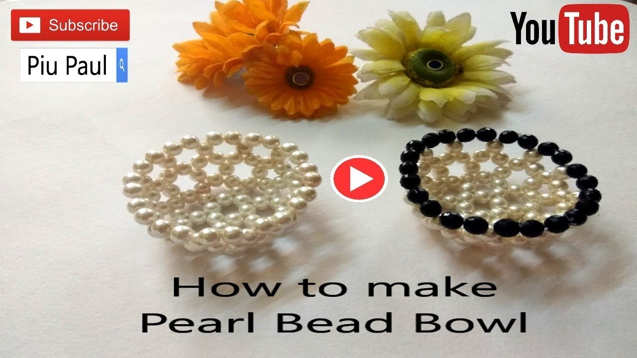 DIY Bowl out of beads|make your own pearl beads bowl|How to make bowl from pearl beads