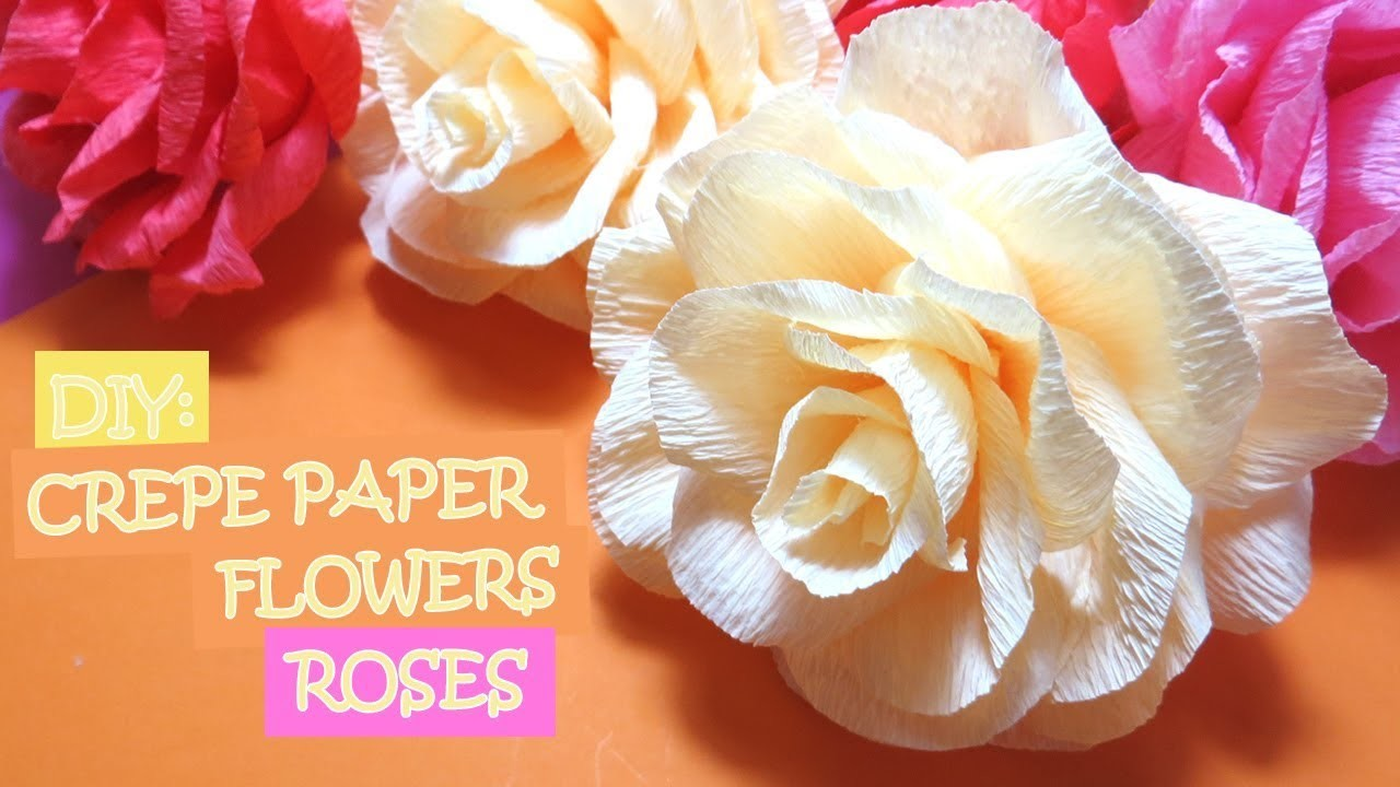 Make Diy Crepe Paper Flowers Roses Diy Crepe Paper Flowers