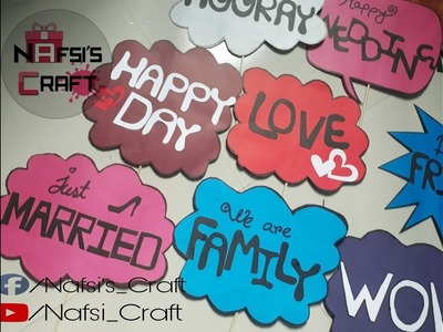 "DIY Easy Wedding Props || Easy Props || Nafsi""s Craft"