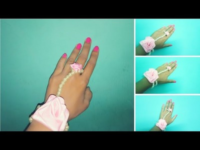 DIY -How to make rakhi bandhan\Hathphool rakhi\Pearl bracelet\rose pearl bracelet with ring\