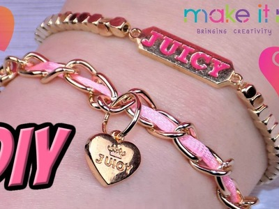 DIY Juicy Couture Chains & Charms Bracelets - How to Make Juicy Couture Bracelets from Make It Real