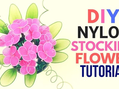 Diy Nylon Stocking Flower Making Tutorial With Net. Easy Crafts. Flower Crafts