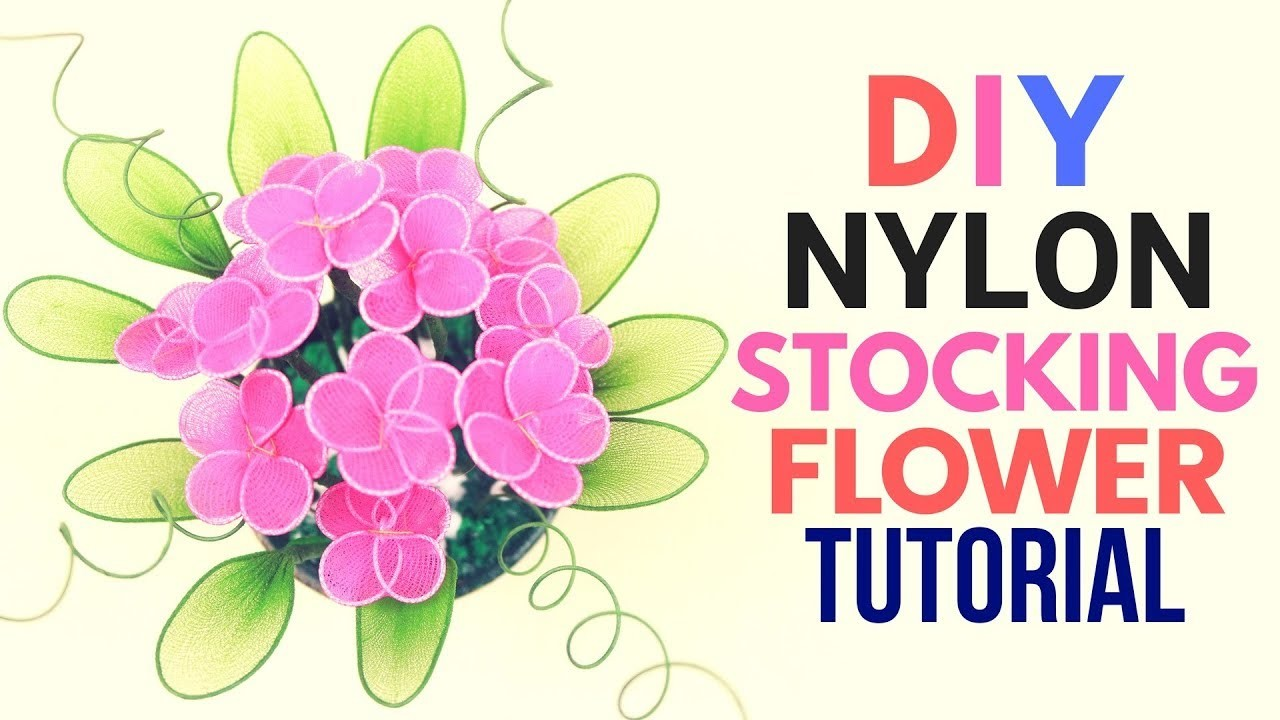 Diy Nylon Stocking Flower Making Tutorial With Net. Easy Crafts. Flower Crafts