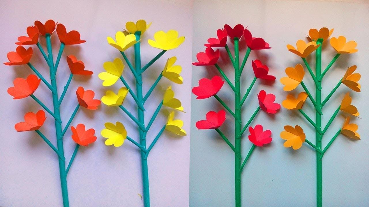 Flowerupc Easy Paper Stick Flower Tutorial Flowerupc Tipos De Cancer