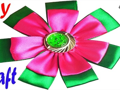 DIY Rubber Band Hair Accessories Ideas    Easy To Make Ribbon Flower Hair Band