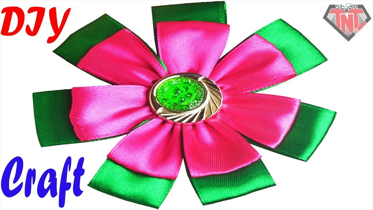 DIY Rubber Band Hair Accessories Ideas || Easy To Make Ribbon Flower Hair Band