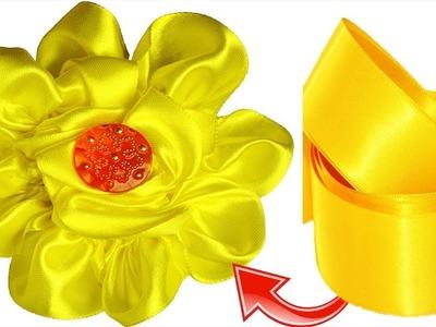DIY Satin Ribbon Kanzashi Flower Hair Band Tutorial || Ribbon Jewelry Flower Headband for Kid