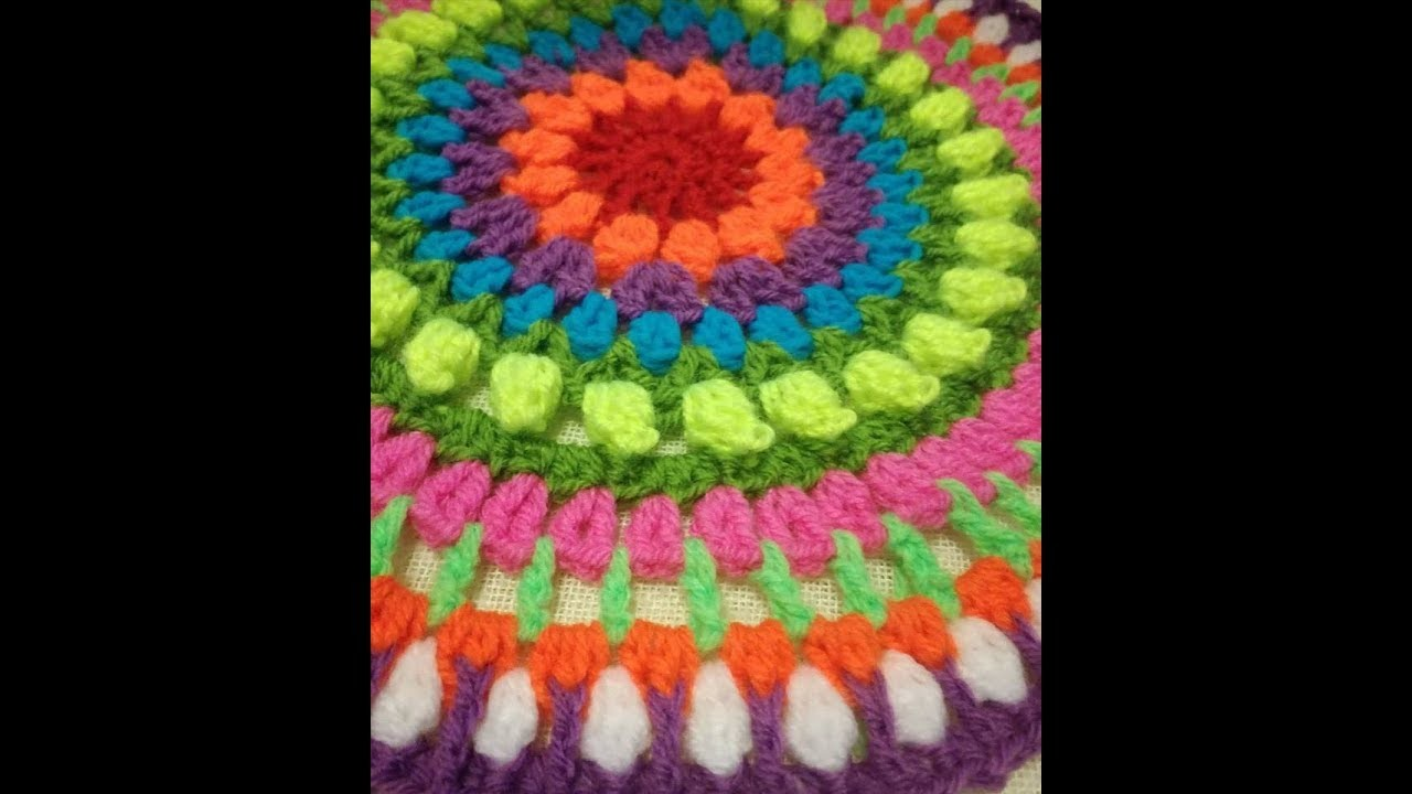 Easy Crochet Sunshine Mandala for Beginners Part 1