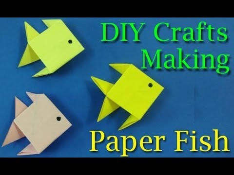 Easy Paper Fish Crafts Diy Making Paper Crafts For Kids Diy