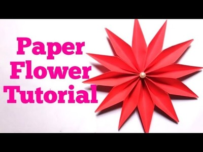 Easy Paper Flowers making instructions - DIY Paper Flower Tutorial