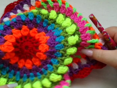 Easy Sunshine Crochet Mandala for Beginners Part 3a