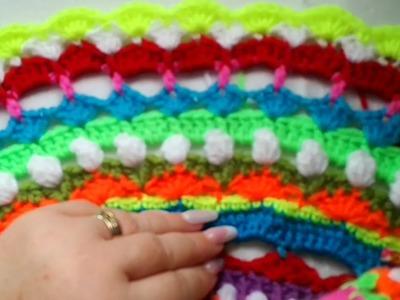 Easy Sunshine Crochet Mandala for beginners Part 4
