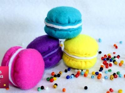Felt Macaron Plush - DIY: How to make easy felt macaron plush. Felt Crafts - Kids Crafts.
