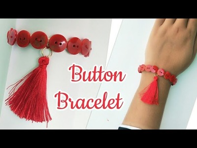 Friendship Band making.Button Friendship Band for Kids.How to make Friendship Band Using Button