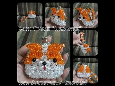"""How to Bead Coin Purse """"Hamster""""   DIY   Tutorial part 4.4"""