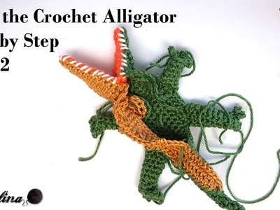 How to Crochet an Alligator part 2 ~   Crochelina
