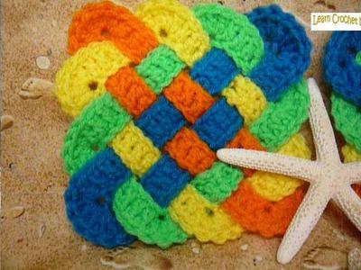 Holder How To Crochet Celtic Weave Cup Coasters Potholder Trivet