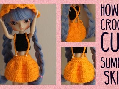 How To Crochet Cute Summer Skirt for doll ✨