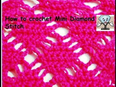 How to Crochet Diamond Mash Stitch.diamond wave afghan.diamond pattern in Hindi